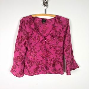Anthropologie Tracy Reese Plenty Silk Floral Top M